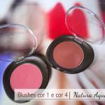 Blushes cor 1 e cor 4 | Natura Aquarela